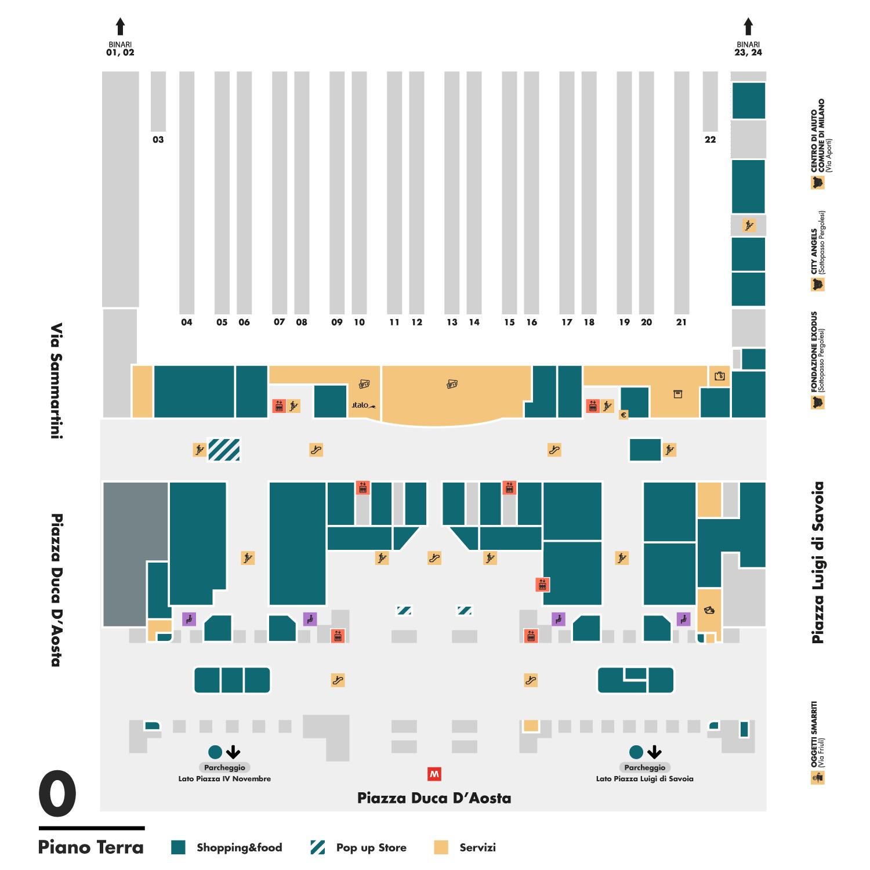 mappa del piano