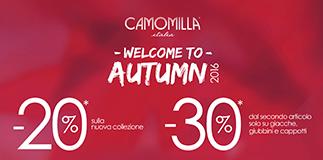 Nuovi sconti da Camomilla Italia