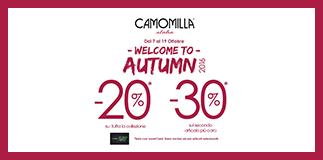 Nuove imperdibili offerte da Camomilla Italia
