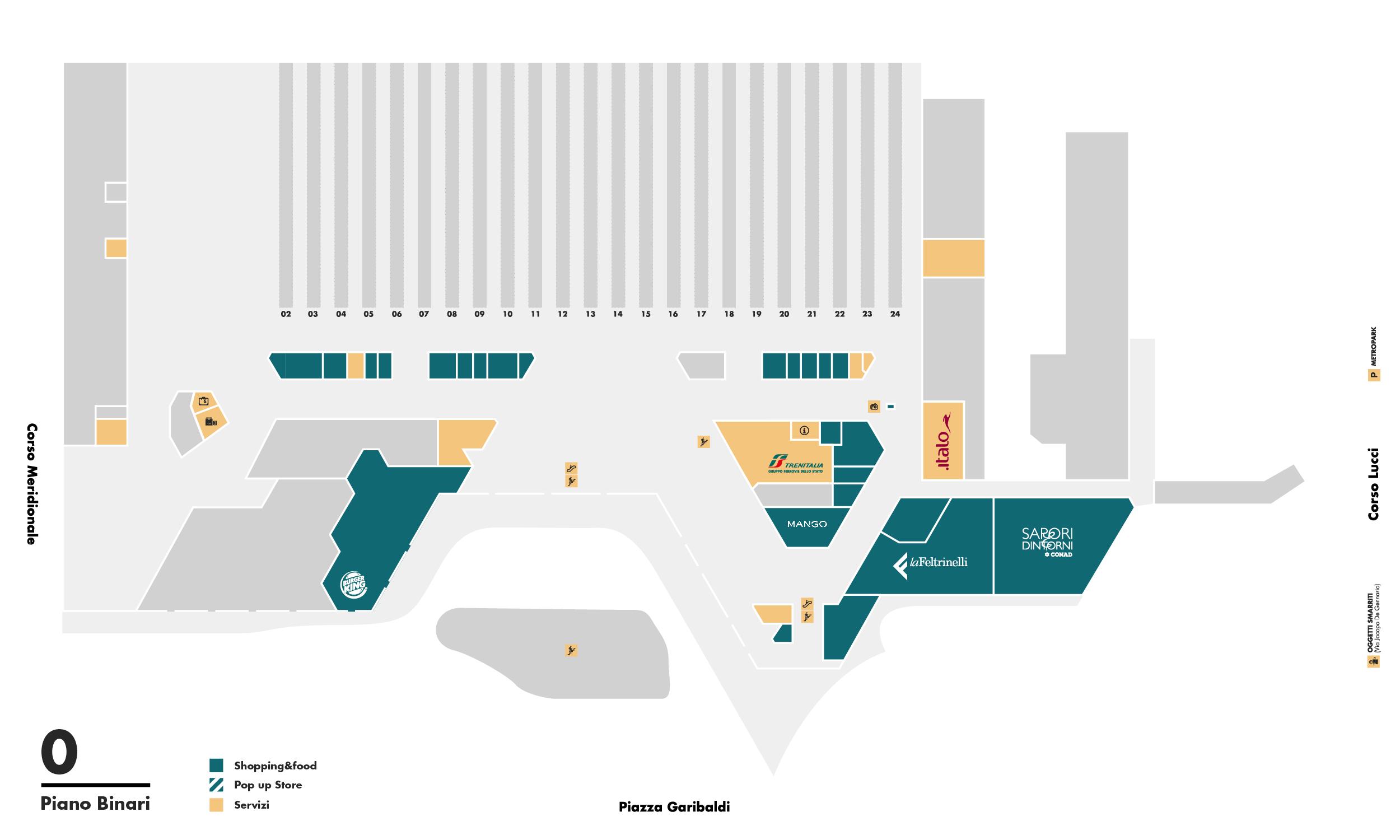 Left luggage kipoint platform floor napoli centrale mappa del piano ccuart Choice Image