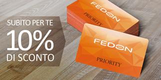 Fedon: 10% di sconto sul primo acquisto