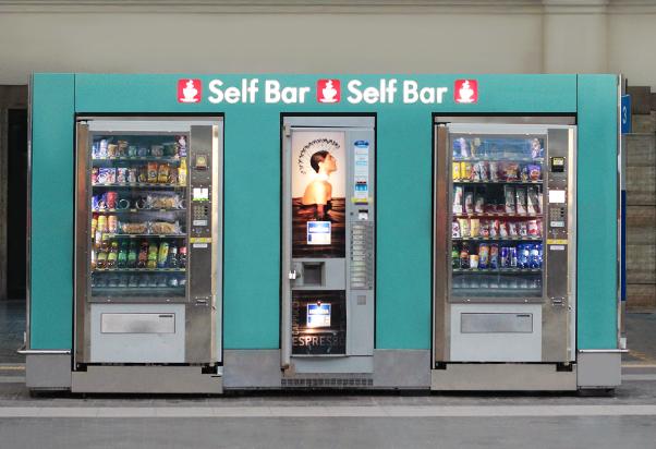 Self Bar vending machines
