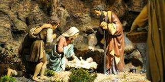 Rome Termini's nativity scene.