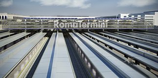 The elevated parking works begin in Roma Termini