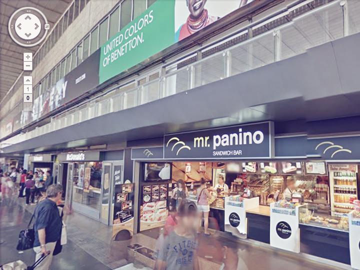 Roma termini su google street view roma termini for Affitto ufficio roma stazione termini