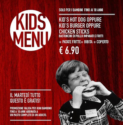 Da Roadhouse Grill il martedì i bambini mangiano GRATIS!