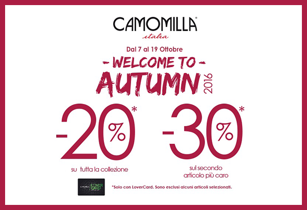 Neverending sales at Camomilla Italia