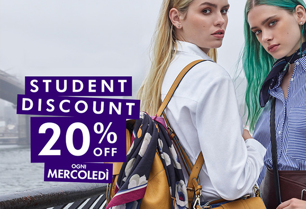 Accessorize: on Wednesday it's Student's Day.