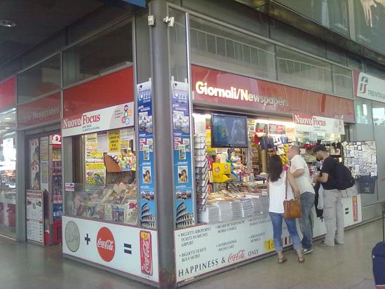 Edicola - Galleria Centrale, binario 1