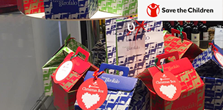 Fattorie Garofalo: Christmas boxes for Save the Children.