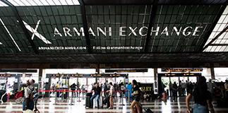 Firenze Santa Maria Novella wears Armani Exchange