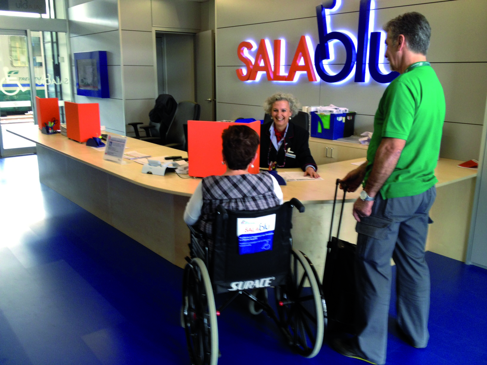 Sala Blu - Trenitalia assistance to people with reduced mobility