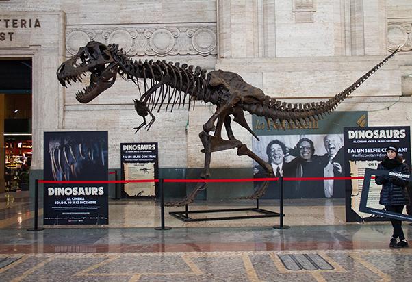 Arriva un T-Rex Stan in Stazione Centrale