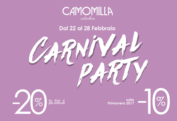 Saldi a Carnevale