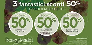 Promo Bottega verde -50%