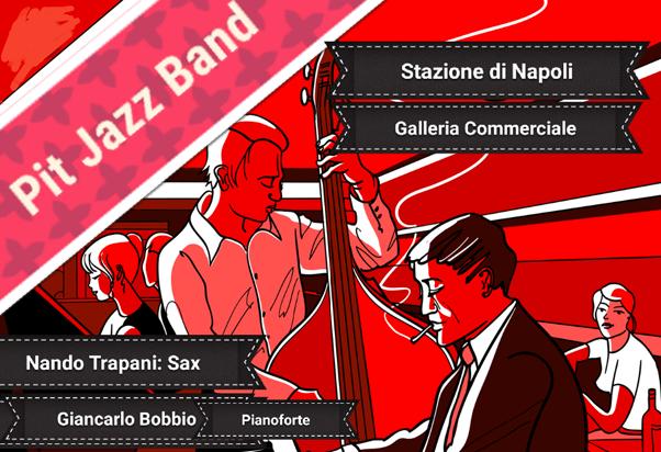 Pit Jazz Band in Stazione.