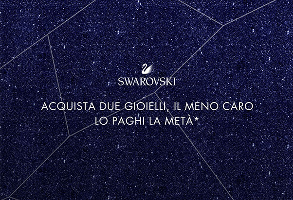 Buy 2 Swarovski jewels and get a 50% discount on the cheapest item