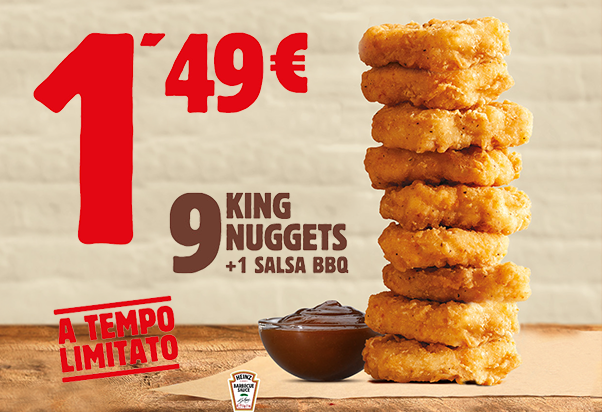 Burger King: passione King Nuggets!