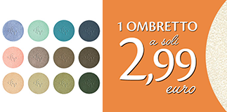 Bottega Verde: eye shadows for a special price.