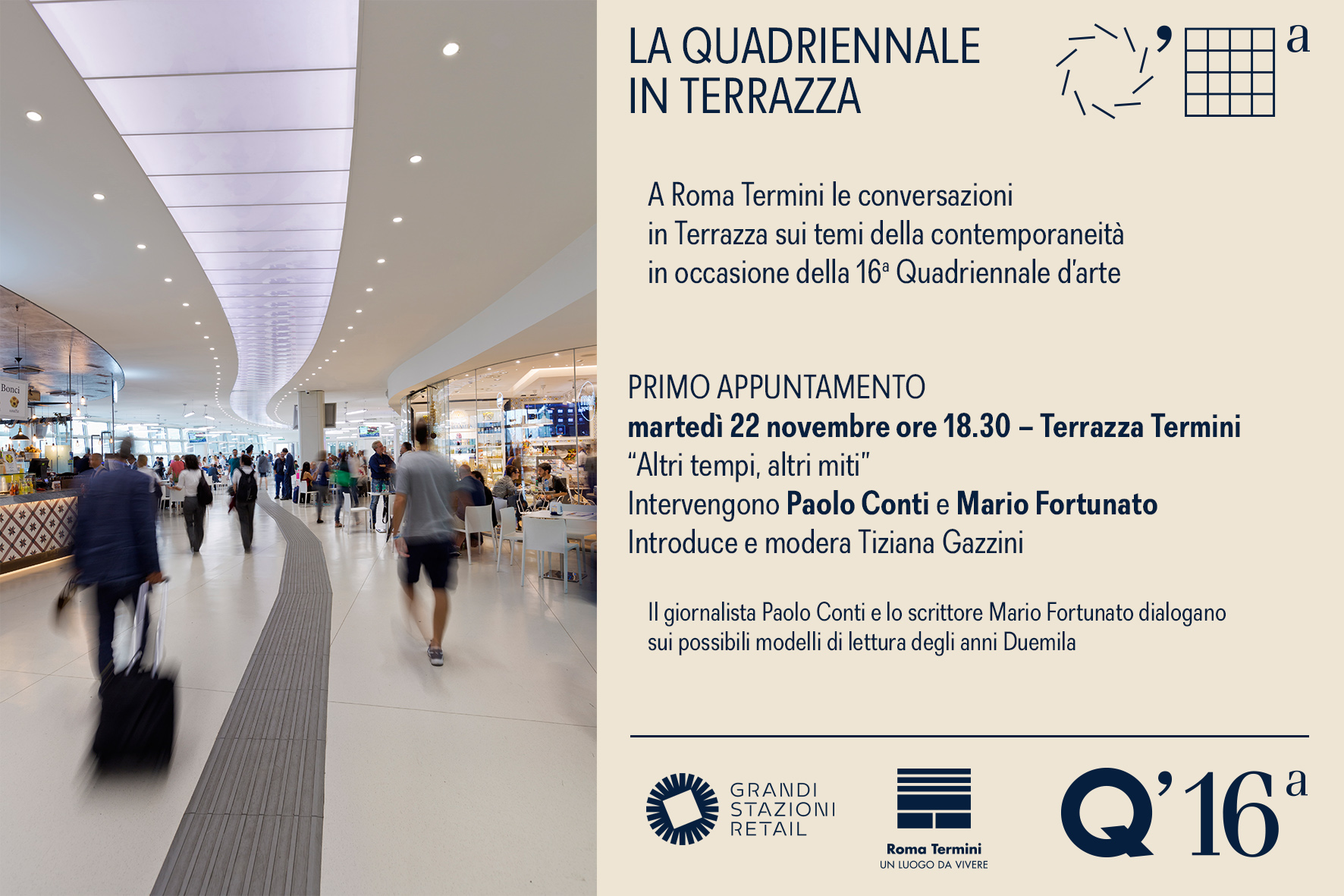 At Terrazza Termini to speak about art and contemporary issues ...