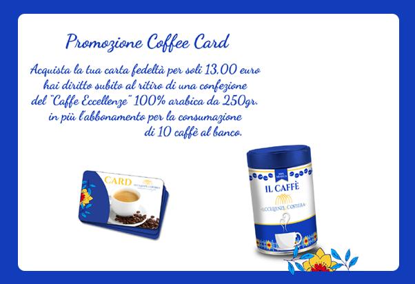 Coffee Card Eccellenze della Costiera