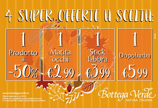 Bottega Verde: super offerte