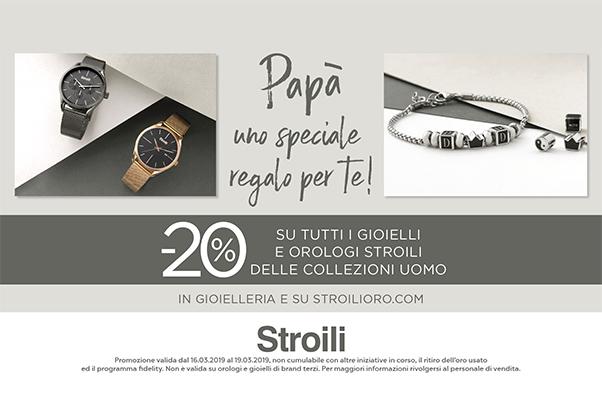 Papà sei speciale: -20% da Stroili