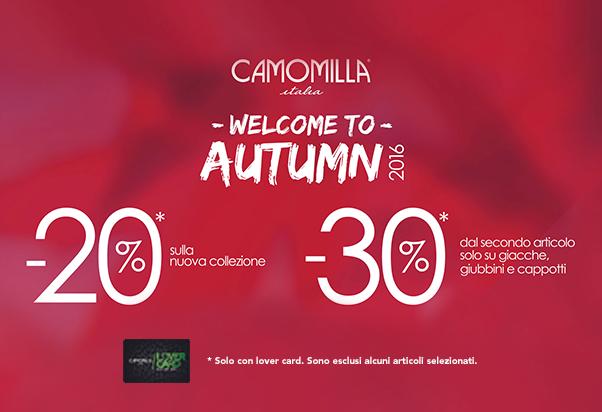 I saldi d'autunno continuano da Camomilla Italia