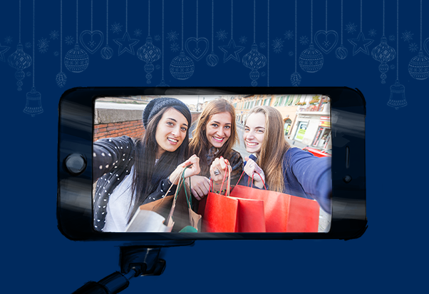 Condividi auguri e foto del tuo shopping natalizio