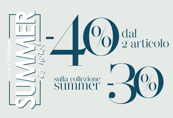 Da Camomilla Italia l'estate è in offerta